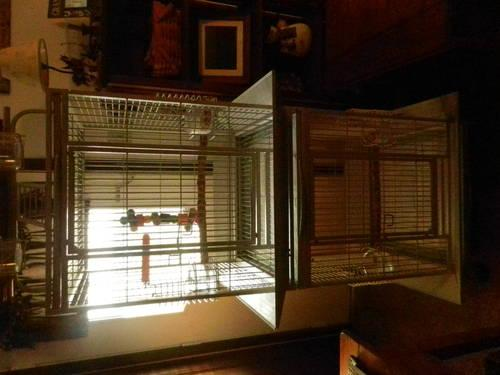 Double Stack Bird Cage with seed guards and Playtop