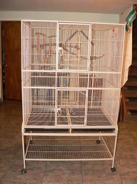 Large Bird Cage with Playtop