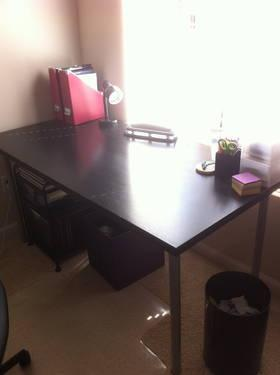 Like New Black Brown Ikea Linnmon Adils Desk For Sale In San Diego California Animals Nstuff