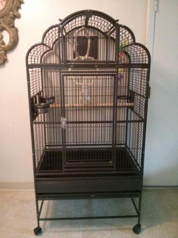 parrot cage and extra