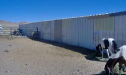 A 12 stall mare motel with 12x16 stalls made with heavy duty galvanized pipe and sheet metal roof. The ends and one side are sheeted for wind break. Asking $18,000. If interested please email.