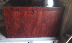 Selling a tack box with saddle rack. Used for horses in 4-H. Latch will accept a lock.