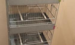 Stacked cage unit has 5 cages as one single unit. Great to use as a training cage for small birds or to house finches and or canarys. Can be used as a quarantine unit for new birds, or just as a tempory housing unit or hospital cage. Can be hung off of a
