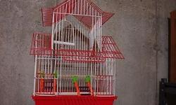 """H 18"""" x W 12"""" x D 9"""" Cage is barely used and in good condition."""