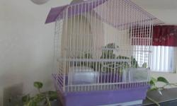 i have 2 bird cages to sell, they are in like new condition, the purple one is 13x11x15 this one is 15.00 dollars cash..... the second one is 20.dollars cash.its 15and half w x14dx 18h......if interested call me at 623 224 4635