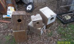 we have stoped raising birds and have several cages and nest boxes for sale