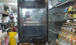 Triple stack cages that are good for lovebirds, cockatiels, conures, ring necks, african greys, amazons, pigeons, quails, etc. They have stands with wheels, trays, and door in the front. Can also be separated into three individual cages. The dimensions of