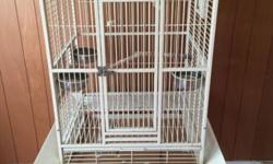 """Need sale a LARGE parrot cage on the wheels. Seeds guard available. Very good condition. The dimensions are: 60"""" x 24"""" x 20"""". $125.00. Email/Text to 423-4o2-o398 if interested. No Trading, No Phone Call PLEASE!"""