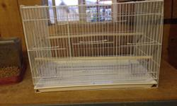 """There are 4 cages. Each cage measures 24"""" long and 16"""" wide and 16"""" tall. Total height with cages and stand on wheels is 60"""" tall. $115.00. Jan 602 999-0171"""
