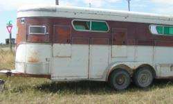 1978 Century 4 horse, bumper pull, extra tall & wide and duel axle. Ramp/step up entrance, 4 escape doors, tack compartment under manger and 2 tack boxes that lock on the fenders. Hay rack is included but not installed at the present time. New springs &