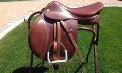 Circuit jump saddle 17.5 wide girth only used 3 times asking $600 00 is in excellent condition brand new call 775-783-1195