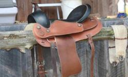 """16"""" LEATHER HORSE SADDLE $80.00"""