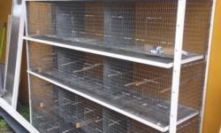 Jaulas metalicas para canario dos muebles de 15 jaulas cada uno llamar a 7863573876
