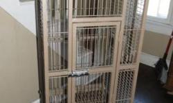 This is a Prevue Coco Brown cockatiel (or other bird of same size) cage with play top. Comes with seed guards that go around the side of the cage. No cups or perches. Sells for new at Walmart for $145. Firm on price. We are located 7 minutes over the