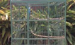 """Large Parrot Cage for sale. 58""""H x 28""""D x 40""""W Slid out tray in bottom for easy cleaning. Has some rust in a few areas. Call if interested: 337-392-0730"""