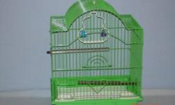 I have a large hunter green bird cage for sale or trade. The cage is 6 feet tall, open play top. Comes with large toy, bell, wooden perch and 2 pedi perches. You will need a new perch for the play top and 4 new wheels other wise in good condition. Housed
