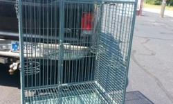Nice heavy macaw cage. Play gym on top. Tray has some rust. Overall great condition. Asking $200.obo