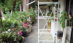"""Parrot cage, white on stand and role, open top with perch 17""""x17""""x52"""" , purchased for more than $200 ,,,,,selling for**** $90, ,,,,818 valley area,"""