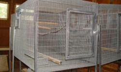 """I am getting out of the Parrot breeding business & I am selling all my breeder cages. I have 7 left of this California Breeder style cage. 5 of the cages are 3' wide, 3' tall, & 3'6"""" deep, and 2 of the cage are 3' wide, 3' tall & 4"""" deep. All the cage"""