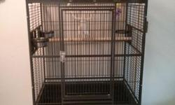 I have lots of bird stuff I need to sell 1. Silver medium bird cage in perfect condition, $30 2. Large white parrot cage in decent condition $30 3. Wooden breeding boxes L shape, for parrots like African Grey or Amazon $20 4. Small bird incubator $15 5