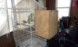 Proven breeder pair of blue front amazons proven by me . Have nice babies. Healthy birds. Im getting out of parrots this is my last pair. This is for the complete set up cage, nest box, extra nest box, and birds. asking $1250.00 firm you will get your