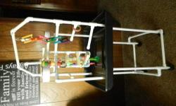 Very nice pvc parrot playstand with a nice base and on castors! perfect for any size bird! 50.00 cash no trades please!
