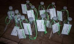 Recycled Water Bottle ( BIRD FEEDERS )These feeders work great. Sometimes I have three birds feeding and more trying to get on. I started making these feeders as a way to use my wife's water bottles, instead of throwing them away.----$4.00---Call