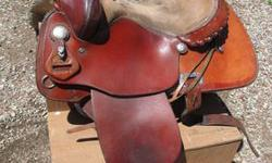 """Very nice and clean 16"""" Alain Allard reining saddle by Saddle Smith. Semi-quarter horse bars. Here is a link for additional technical info and a nice picture to compare to mine. http://www.westmall.com/Action/tracpg046.html Local pick-up only. Will"""
