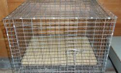 Clean. #3.1 Rabbit-type cage: 2?x2?x16?T, 1?x2? wire, 1 large door. #3.2 Small animal type cage (great for rats, etc): 30? cubed 1?x1/2? wire mesh and j-clip cage, one 13?x8? door. Rust damage. #3.3 Poultry-type cage: 19?x3?x23?T, 1?x3½? inch wire