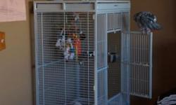 Please contact me with any questions at [email removed]. ET is a 5 year old talking African Grey. He is an amazing bird w/ so many talents! Unfortunately, I've had a change of career and no longer have the time for him as I have two young kids too. ET is