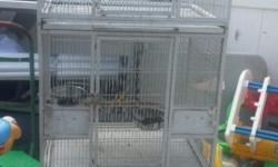 Very good condition triple breeding cages for parrot or finch. Asking $ 150 Plz contact on 347 744-2439