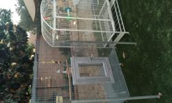 Big cages for sale!! Both in Very good condition White cage $165 Grey cage $165 805 3687321 Hablo español
